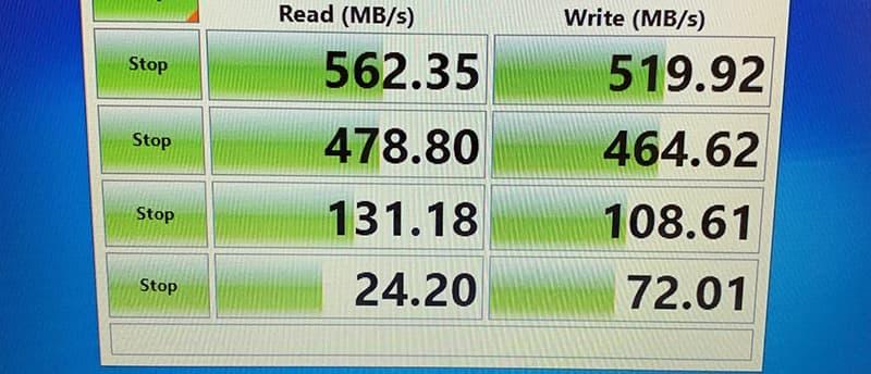 SSDの速度計測