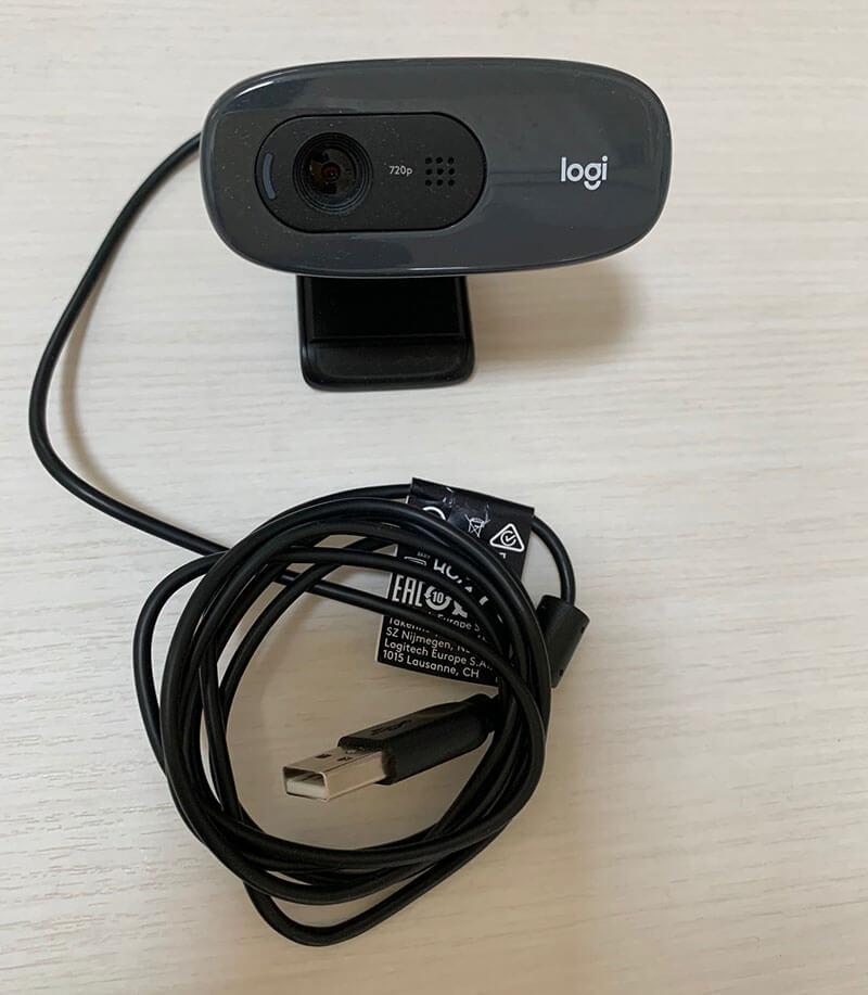 ロジクールのウェブカメラ